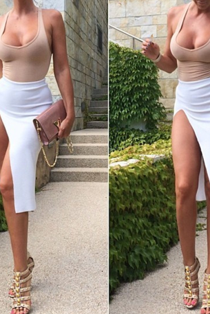 FASHION HOT CUTE SEXY DRESS TWO PIECE