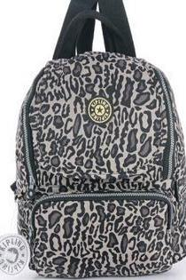Waterproof Nylon Shoulder Bag Travel Backpack Handbag - Leopard