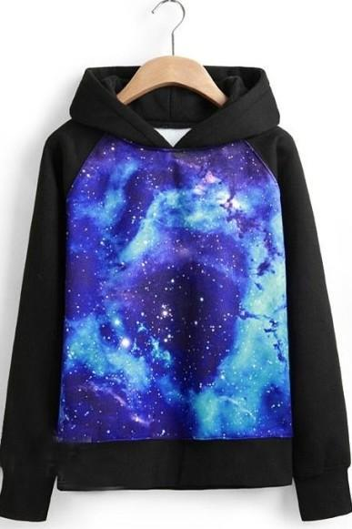 Stars Sky Long Sleeved Sweatshirt Hoodies