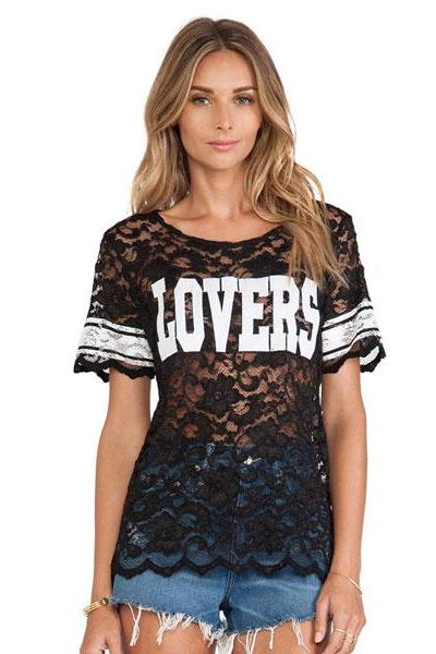 Perspective Sweatshirt Lace T-Shirt