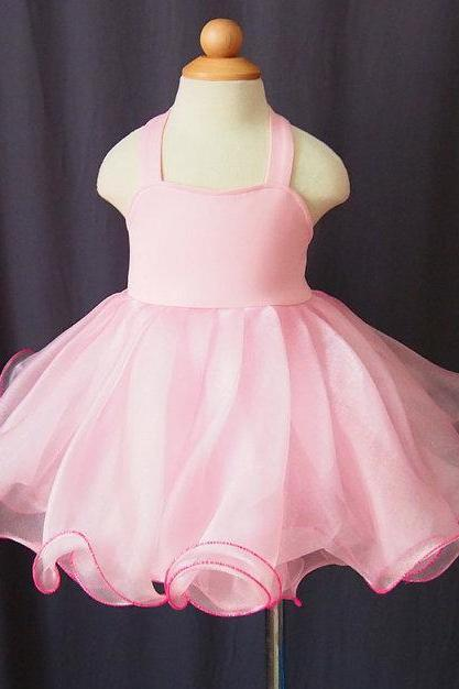 Lafine Infant Baby Pageant Commuion Clothing Flower Girl Dress Pink