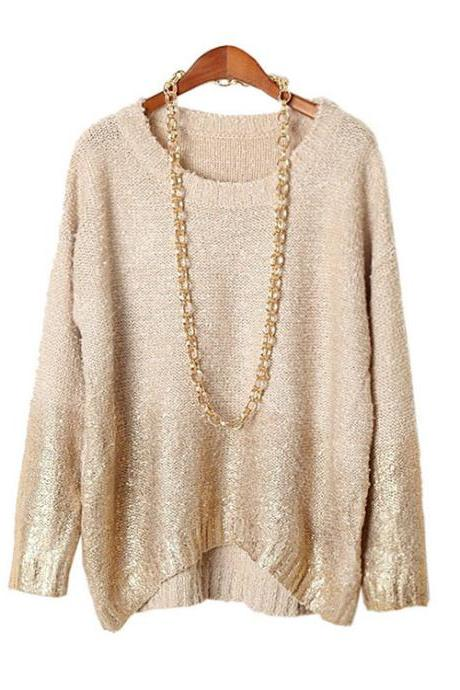 Loose knit fashion sweater