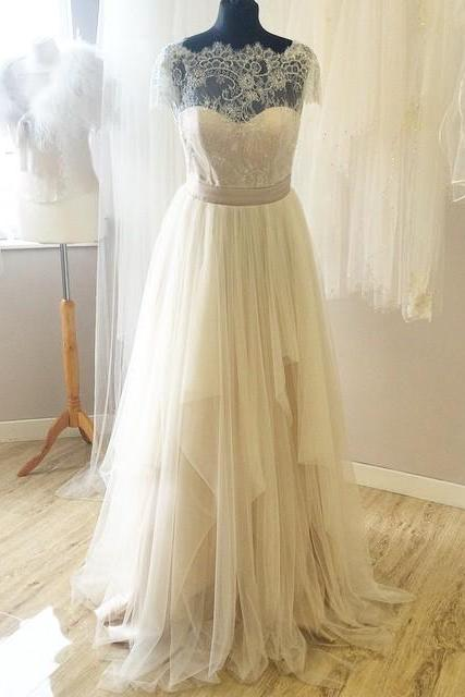 Lace Wedding Dresses,Sexy Tulle Wedding Dresses,The Charming A-Line Wedding Dress,Wedding Dresses, Dresses For Wedding