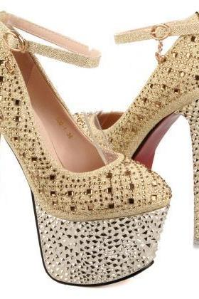 Rhinestone Super High Heels