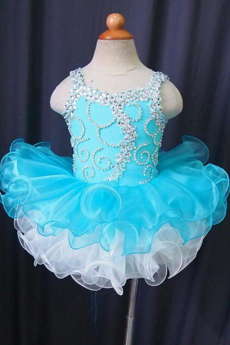 lafine Skybule Beadsorganza Flower Girl Dress Baby tutu Pageant Clothes for Dancer wear