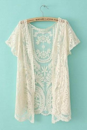 Lace Cardigan Shirt