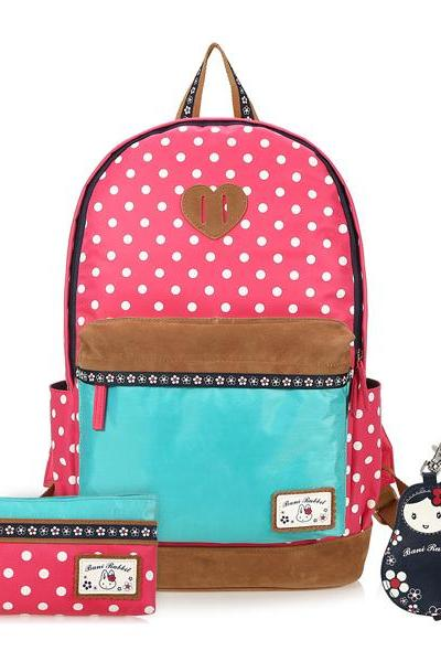 Bunny Polka Dot Trunk Mixed Color Backpack