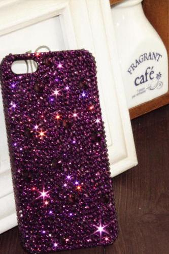Purple Bling iPhone 7 Plus, iPhone 6 6s case, iPhone 6 6s Plus case, iPhone 5s SE case, iPhone 5c case, bling wallet case for samsung galaxy note 4 note 5 s7 edge s6 edge s5
