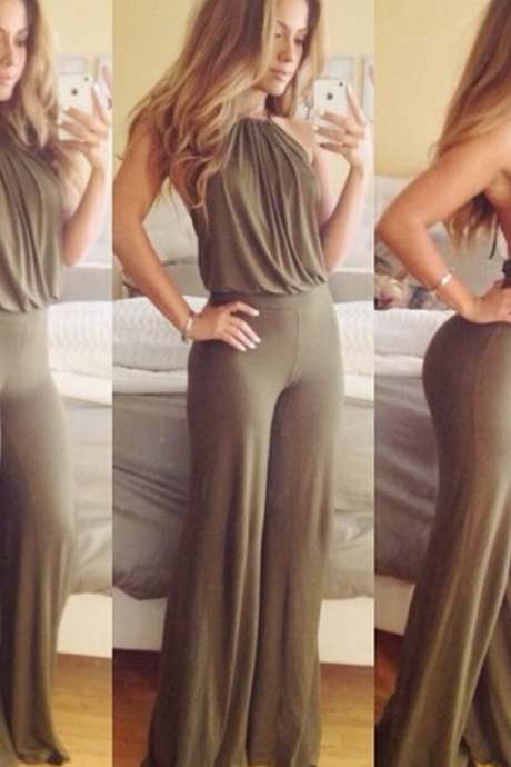 Hot green sexy cute jumpsuit
