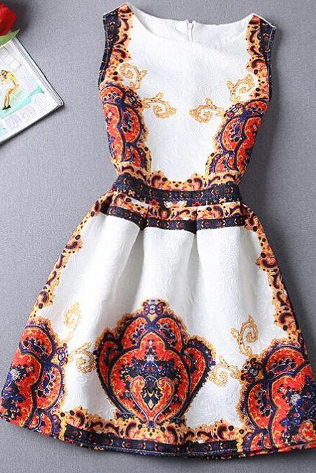 Printed sleeveless dresses