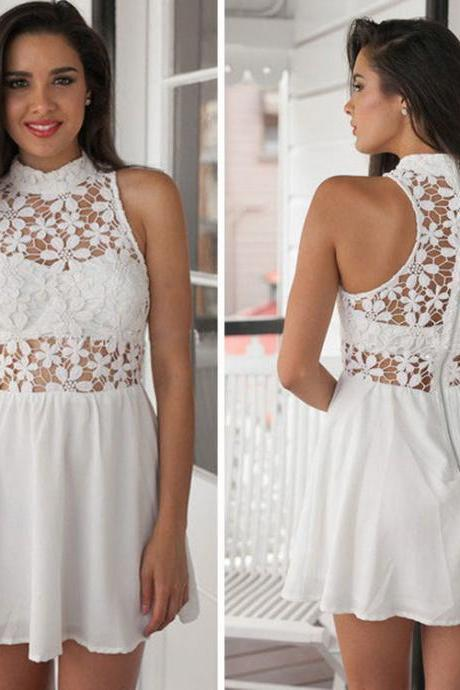 HOT LACE CUTE DRESS CHIFFON