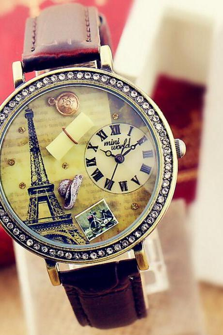 Delicate Paris Eiffel Tower ls lady's watch