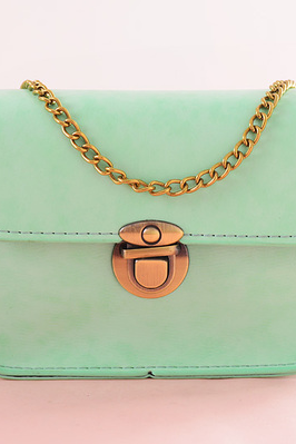 A summer bag chain bag mini small bag lady Small Bag Satchel diagonal single shoulder bag(Color: green)