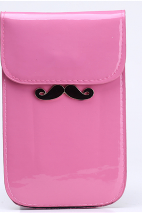 A bright face adorable little beard mobile phone bag ladies fashion Mini Bag trend change Xiekua package