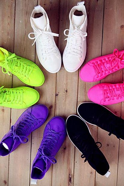 Summer leisure candy colors canvas shoes