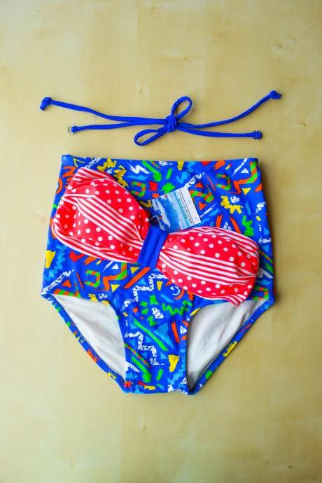 High waist bikini bottom vintage style, perfect for the beach!