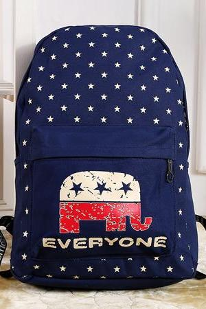 Casual Star Elephant School Bag Travel Backpack Rucksack