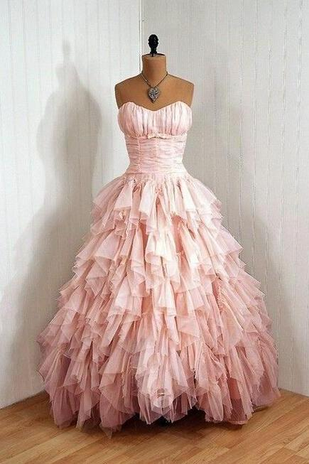 Pink Sweetheart Cute Prom Dress Ball Gowns For Women Party