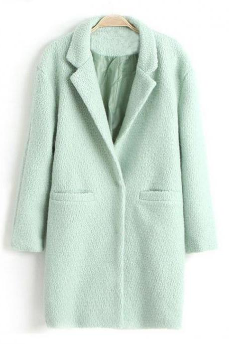 Mintgreen Wool Coat Oversized Mintgreen Winter Fashion Overcoat Size 6, Size 8, Size 12