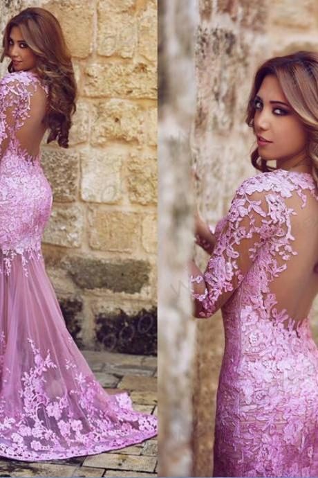 2015 new Lace Prom Dresses sweetheart neckline backless Formal Prom Wedding Dress pink Lace party homecoming Dress and wedding gowns dresses