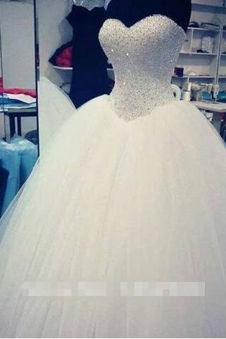 wedding dresses Real Sample Actual Sample 2015 Crystal Beading Sweetheart PROM dresses wedding dresses Custom Made wedding Dress formal hot