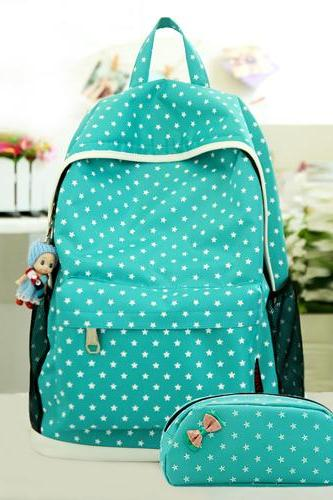 Waterproof Candy Colors School Bag Travel Computer Backpack