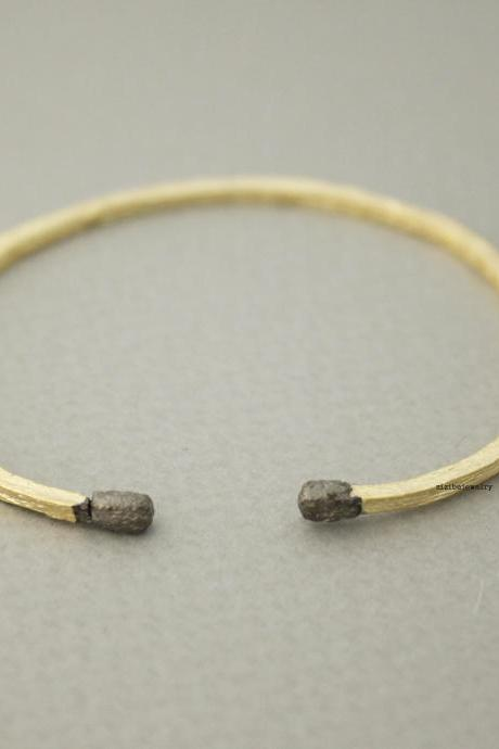 Long Matchstick Bangle Bracelet, B0630G