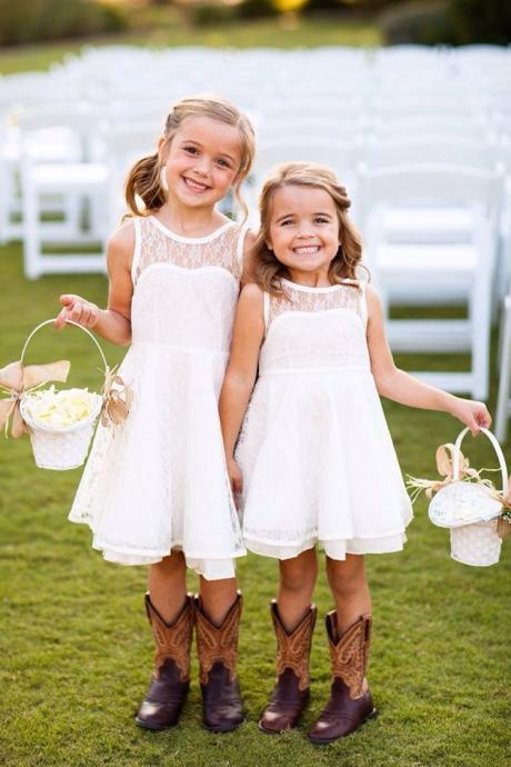 2015 Lace Flower Girl Dress Love the flower girls in for wedding Baby Girl Dress Lace Flower Girl Dress Toddler Girl Dress Backless Flower Girl Dress White Flower Girl Dress