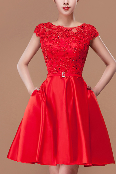 Fashion Temperament Lace Evening Dress