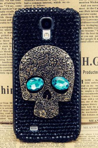 IPhone 6 Case, IPhone 6 Plus Case, IPhone 5s Case, IPhone 4s Case, Bling Wallet Case For Samsung Galaxy Note 4 Note 4 Edge S6 S6 Edge S5 S4 S3, Skull crystal bling phone case