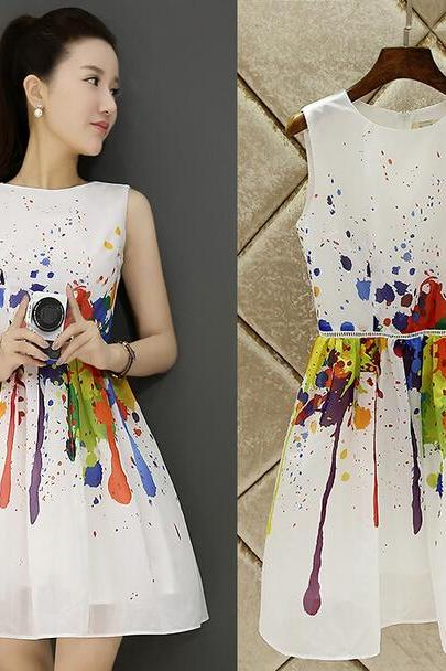 Print dress fashion cultivate one's morality