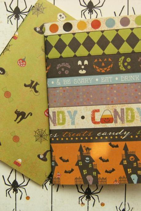 Candy Corn Notebook Set - Pair of Notebooks with Halloween covers - 6x4 ins