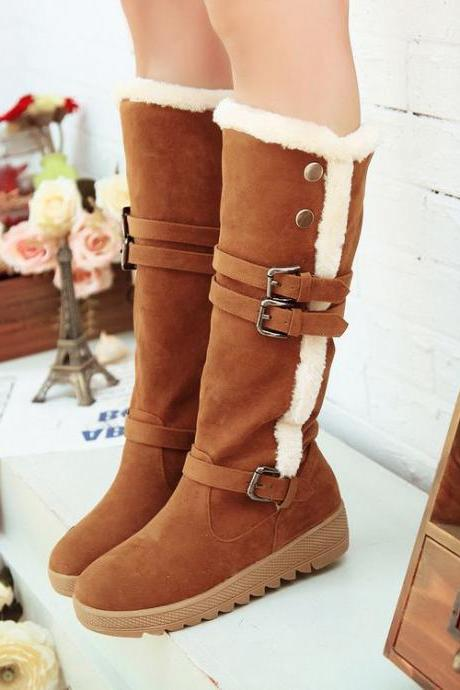 Classy Brown Warm Winter Boots