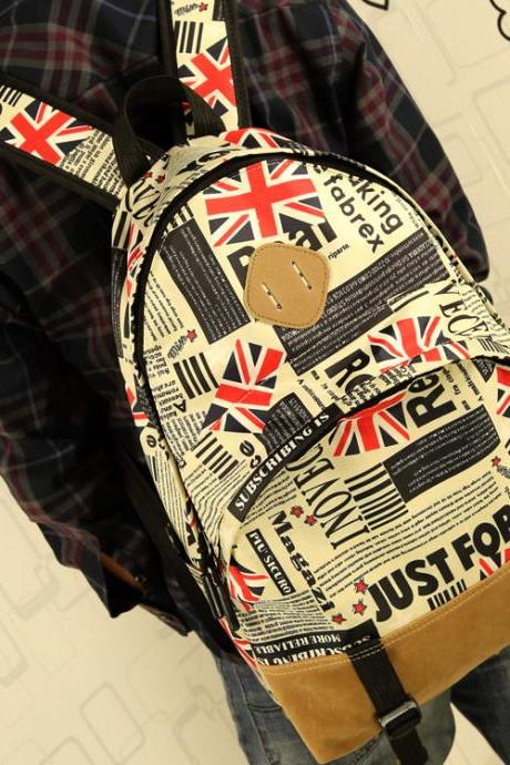 Juice action Fashion American flag backpack