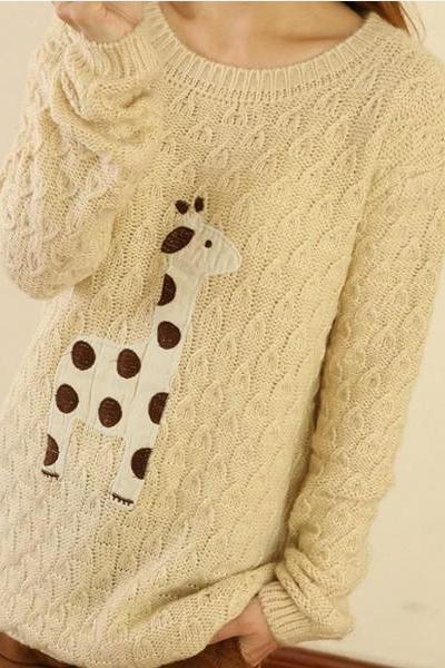 New Hot sale Sweet Style Cute Fawn Sleeve Sweater&Cardigan