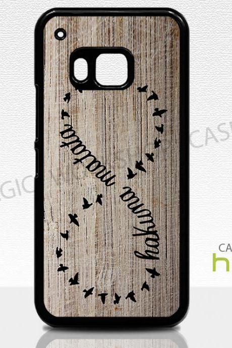 HTC One M8 M9 Case, Hakuna Matata Infinity Birds