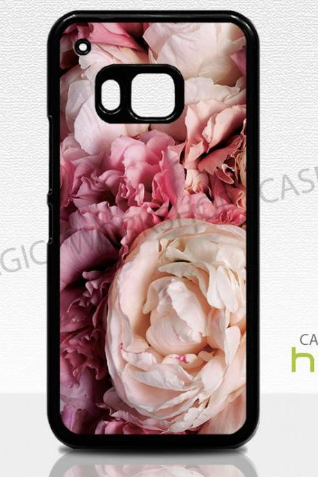 HTC One M8 M9 Case, Pink Peonies