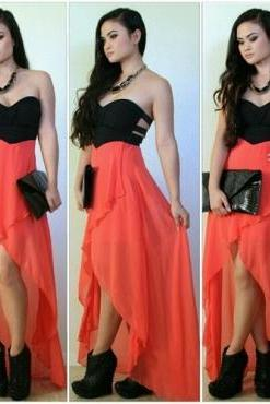 Stylish Off Shoulder Asymmetrical Hem Dress