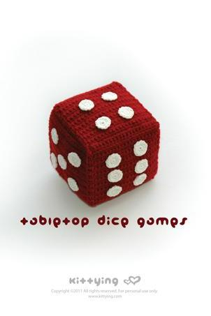 Tabletop Jingle Dice Games Crochet PATTERN, SYMBOL DIAGRAM (pdf) by kittying