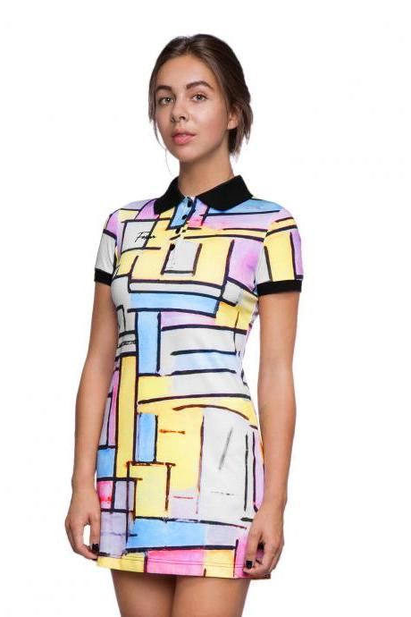 Colour Worlds Polo Dress by Fusion
