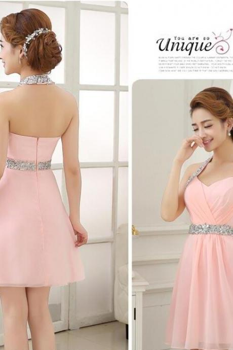 pink homecoming dresses, pink evening dress, short evening dress, unique prom dresses, sexy prom dresses, 2015 prom dresses, popular prom dresses, dresses for prom, CM552