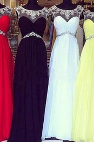 Beaded Prom Dress, Formal Prom Dress, Sexy Prom Dresses, Chiffon Prom Dresses, 2015 Prom Dresses, Sexy Prom Dresses, Dresses For Prom