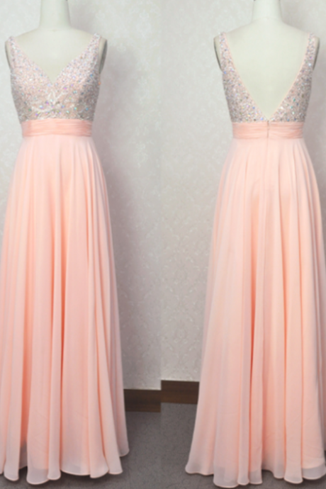 Sexy Charming Beading Long Prom Dress ,Wedding Party Dress ,A Line Floor-Length Prom Dress,See Through Evening Gowns,Special Occasion Dress,Elegant Prom Dress 2015