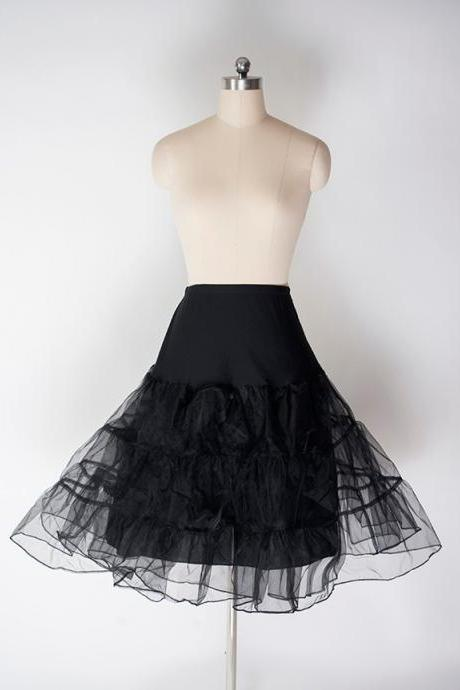 Black Women's Swing Petticoat Vintage for Party Ball Gowns