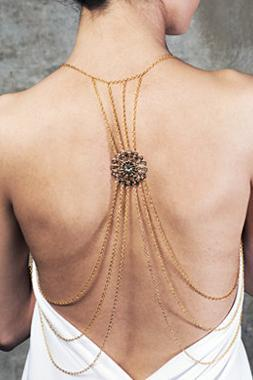 Gorgeous Gold Body Chain Necklace
