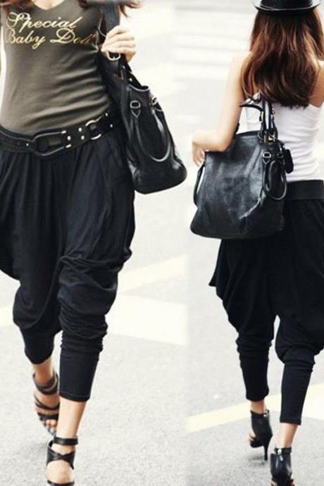 Women Harem Baggy Hip Hop Dance Sport Pants Casual Trousers Slacks Long Legging