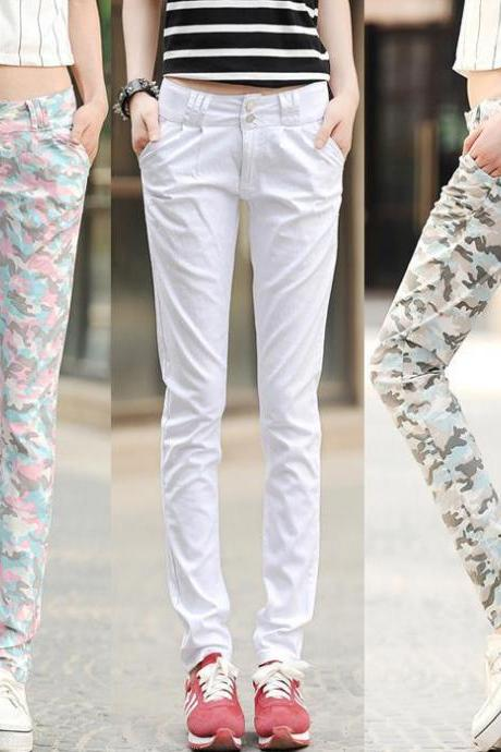 Spring And Summer Casual Pants Thin Section Camouflage Pants Feet Long Pants Harem Pants Pencil