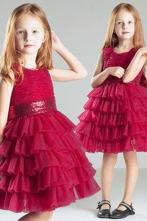 Burgundy tulle flower girl dress with sequins belt knee length little girl dress,kid dress for birthday,new baby dresses