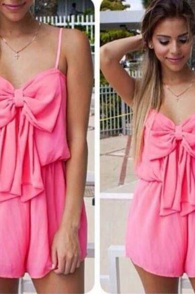 LOVELY PINK SLEEVELESS STRAPS DRESS MY0093FY