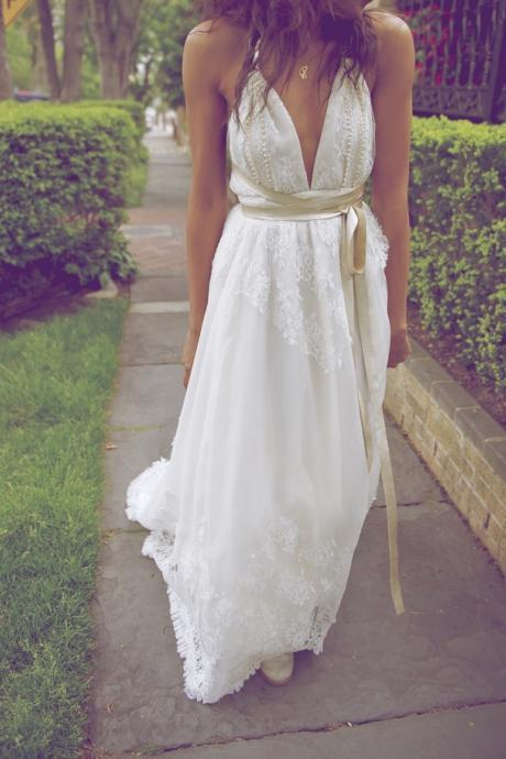 Pearls Prom Dresses,A-Line Floor-Length Evening Dresses,The Charming Wedding Dresses,Wedding Dresses 2015, Charming Prom Dresses,Bridal Gowns